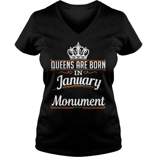 Awesome Tee Monument January Queen T-Shirts