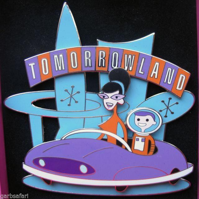 Disneyland Shag Tomorrowland Large Pin LE 1955 In Box 50th Anniversry 2005 Retro