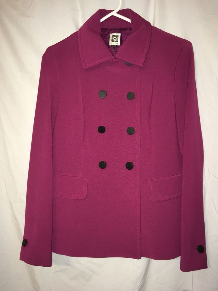 Ann Klein Double Breasted Womens Peacoat New With Tags Manzanita Size 6 #AnneKlein #Peacoat #Evening