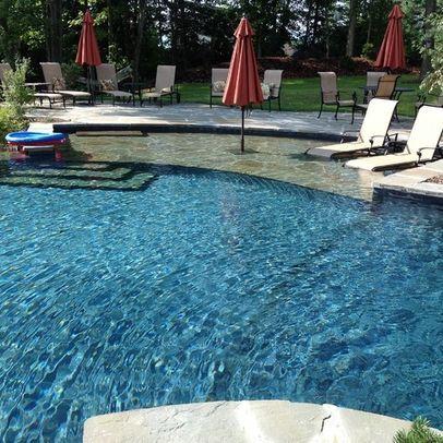 sun ledge in pool
