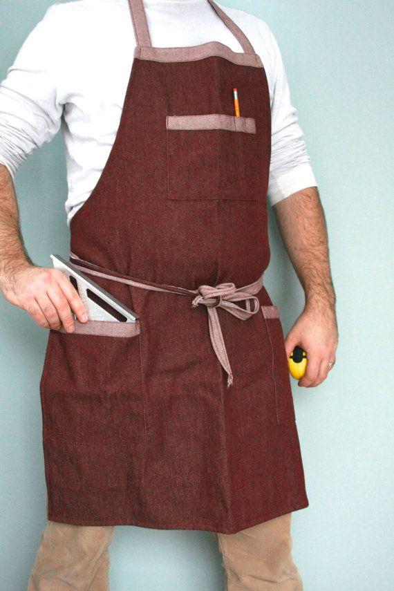 Bus Boy Apron: SALE  Mens apron workman's apron wood working apron by SSatHome