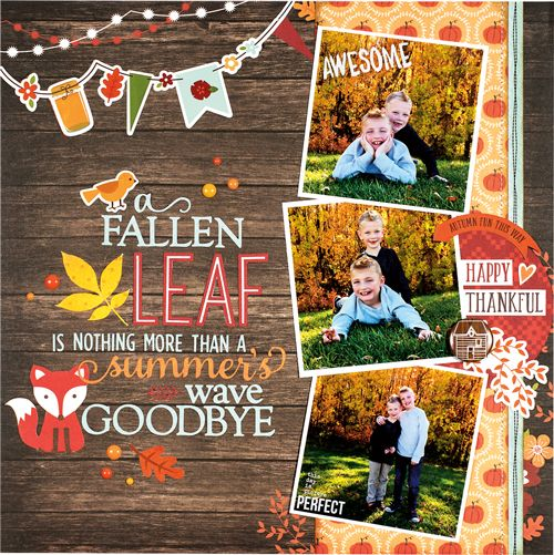 A Fallen Leaf by Brenda Cazes for Scrapbook & Cards Today Magazine - Fall 2016