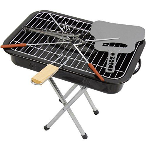Portable-Kettle-Barbecue-BBQ-Grill-Includes-Grilling-Tongs-Heat-Resistant-Barbecue-Fan-Barbecue-Skewers