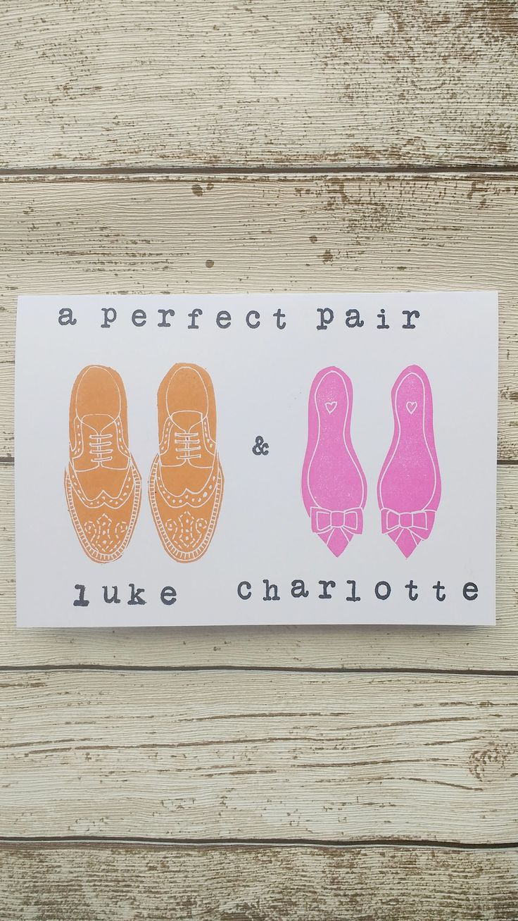 Personalised Shoe Wedding Card Pair of Shoes Card His  and