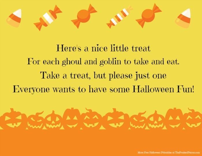 leaving a bowl of candy out for trick or treaters i love this cute sign halloween - Cute Halloween Poem