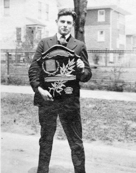 Ernest Hemingway on his graduation day from Oak Park River Forest High School, 1917.