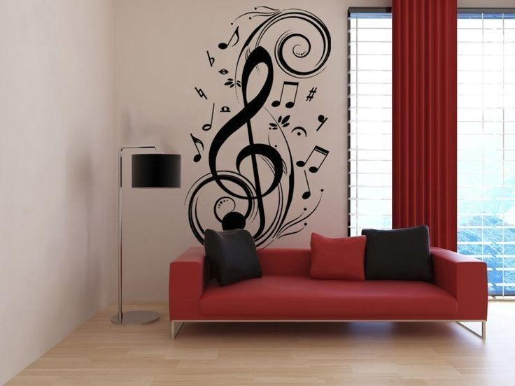 Wall Stickers, Wall Decals, Vinyl Stickers, Vinyl Decals, Decals, Wall Graphics, Wall Decor, Wall Decoration, Wall Design, Home Decor, Sticker Decals, Samolepka Noty 001