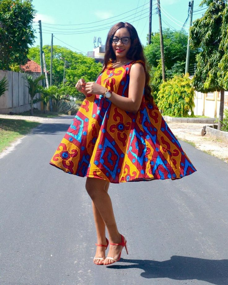 """2fdb1ee26a1b4 Kiki's Fashion on Instagram: """"African print summer dress available at  Kiki's Fashion Boutique…"""" 