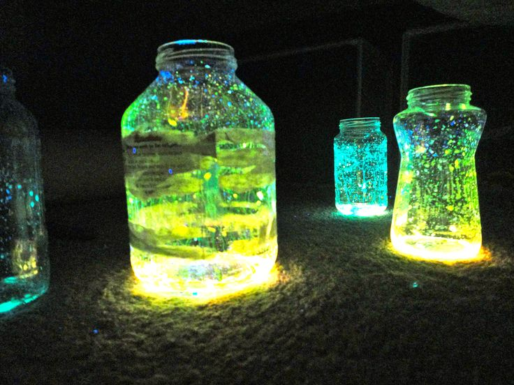 cut open glow sticks and pour them out. They last longer if you have a lid on the jar.