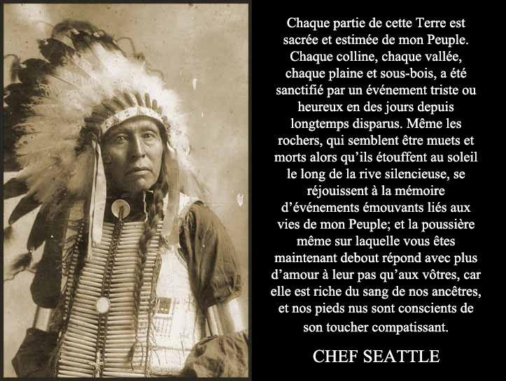 Gnose - Culture spirituelle amérindienne - Le Chef Seattle  - http://www.coursgnosesamael.org/culture-spirituelle-amerindienne-chef-seattle-gnose/                                                                                                                                                                                 Plus