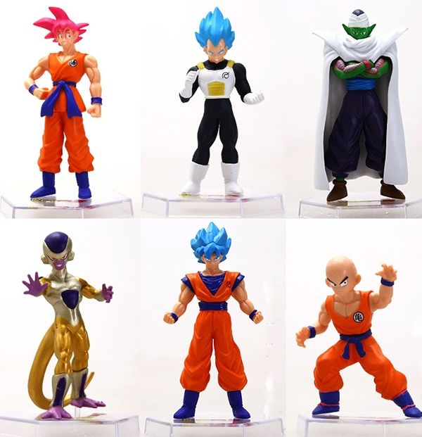 (38.25$)  Watch here  - Dragon Ball Cosplay Son Goku Vegeta Piccolo Kulilin Frieza Garage Kits Action Figures Model Toys 6Pcs/Set