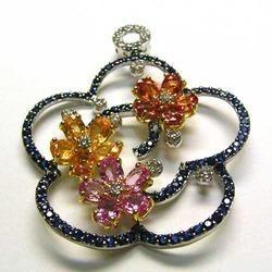 Diamond Jewel Pendents