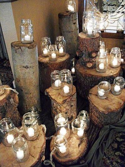 Vidros Reciclados com Velas