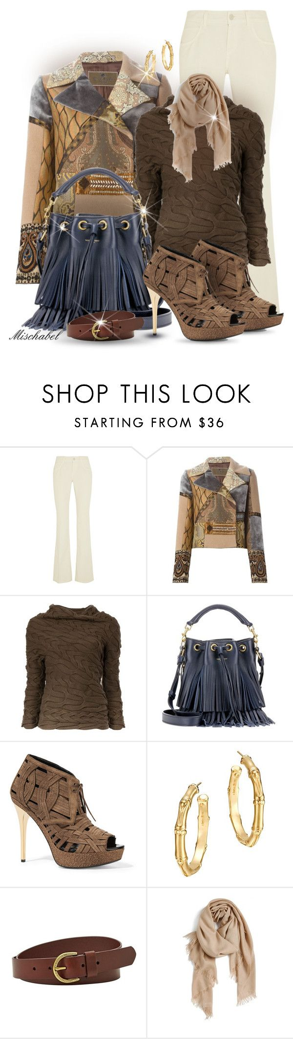 """Winter Shades - Patchwork Jacket & Woven Booties (147)"" by mischabel ❤ liked on Polyvore featuring Gucci, Etro, Alexander McQueen, Yves Saint Laurent, Burberry, John Hardy, FOSSIL and Nordstrom"