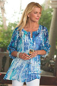 Silk Tides Tunic