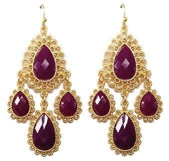 Royal Filigree Goldtone Earrings Maggie T New York