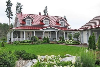 25 best ideas about red roof on pinterest garage exterior detached garage and cottage homes - Metal exterior paint model ...