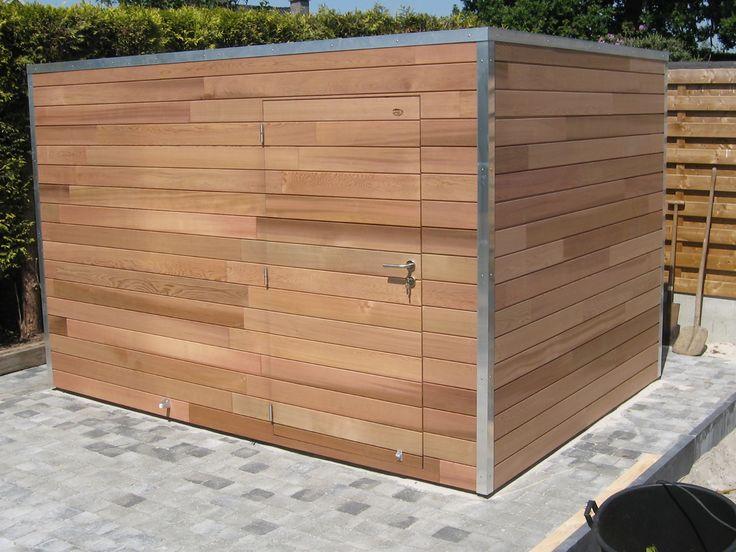 1000 id es propos de abri jardin toit plat sur pinterest abri de jardin moderne toit plat - Abri jardin grande taille ...