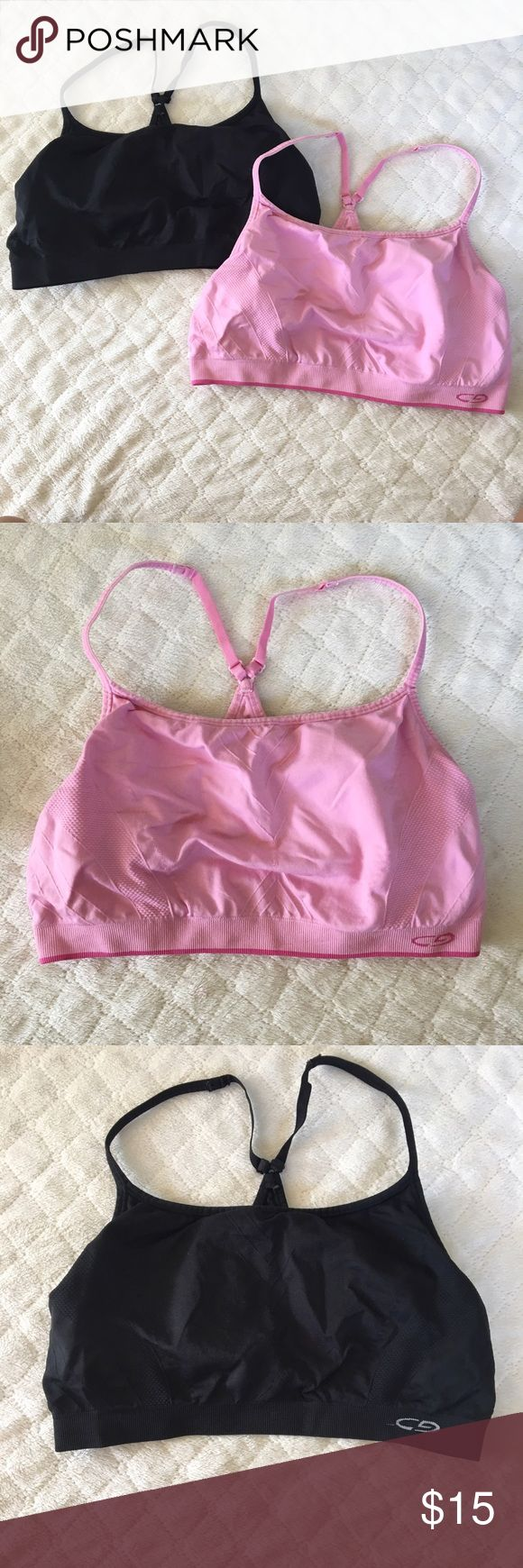 Two C9 champion sports bras!! Pink & back Sz XL Super cute C9 champion sports bras bundle! Size XL. Pink and black C9 Champion  Tops Muscle Tees