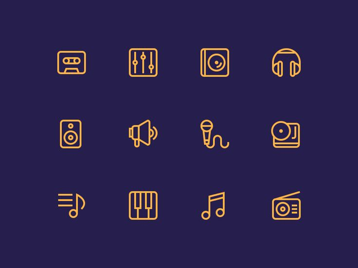 Hey, guys  40 outline music icons set is available for sale!  CHECK IT OUT AT CREATIVE MARKET