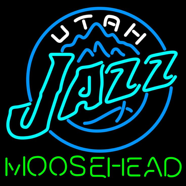 Moosehead Utah Jazz NBA Neon Beer Sign, Moosehead with NBA Neon Signs | Beer with Sports Signs. Makes a great gift. High impact, eye catching, real glass tube neon sign. In stock. Ships in 5 days or less. Brand New Indoor Neon Sign. Neon Tube thickness is 9MM. All Neon Signs have 1 year warranty and 0% breakage guarantee.