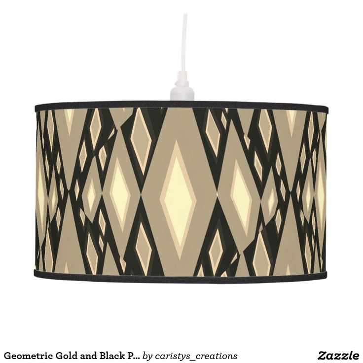 Geometric Gold and Black Pendant Lamp