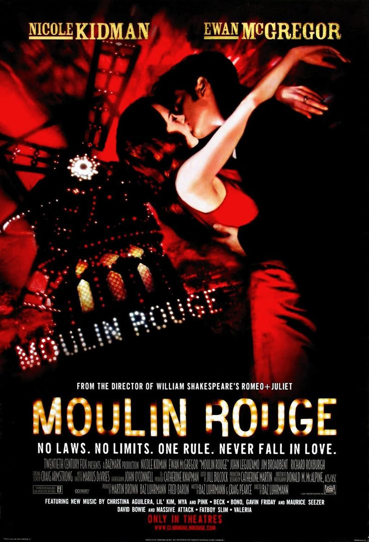 "Moulin Rouge (Academy Award for Best Costume Design and Best Art Direction) - Romantic Jukebox musical, based on the Orphean myth, ""La traviata"" and ""La bohème"", 2001"