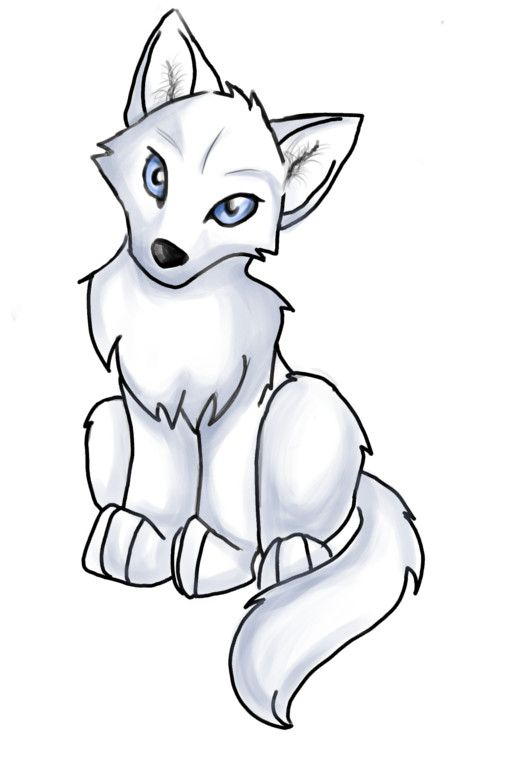 anime wolf pup easy clipart best