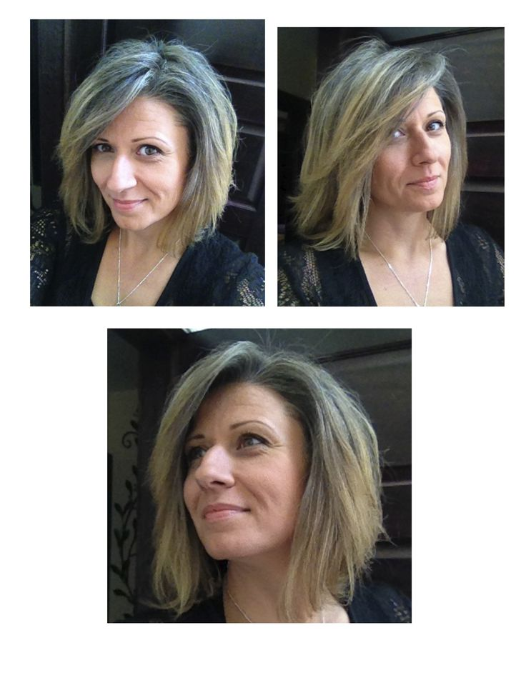 """(5) It was time!  Realizing a shorter, trendier cut made me feel better than hanging on to the """"long hair.""""  Thanks Mario @ ONARE (QEW  Hwy#10) for the awesome cut!  Actually digging the mix of silver  blonde now. Feel'n light  lively!"""