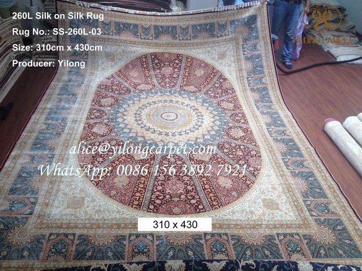 """260 lines Handmade Silk on Silk Carpet Yilong """"Top…"""