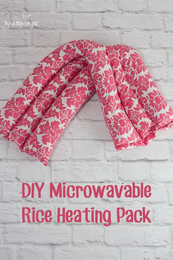 microwave rice heating pack - sew - cherry pits?!?!?!