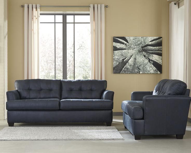 $785. Ashley Inmon Navy sofa and love Homestore best home furniture sale in Houston
