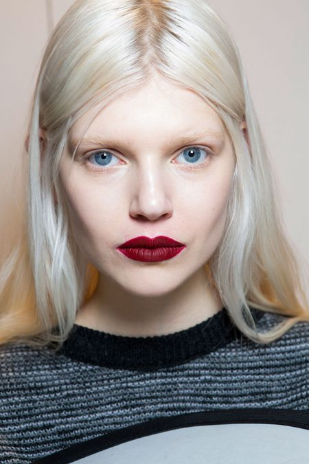 Max Mara MFW Fall 2014 Beauty: MAC Hearts Aflame lipstick