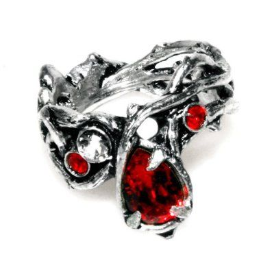 gothic wedding rings home rings gothic passion red crystal ring by alchemy gothic