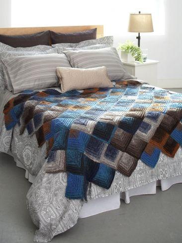 Mitered Motifs Blanket | Yarn | Free Knitting Patterns | Crochet Patterns | Yarnspirations Someday...