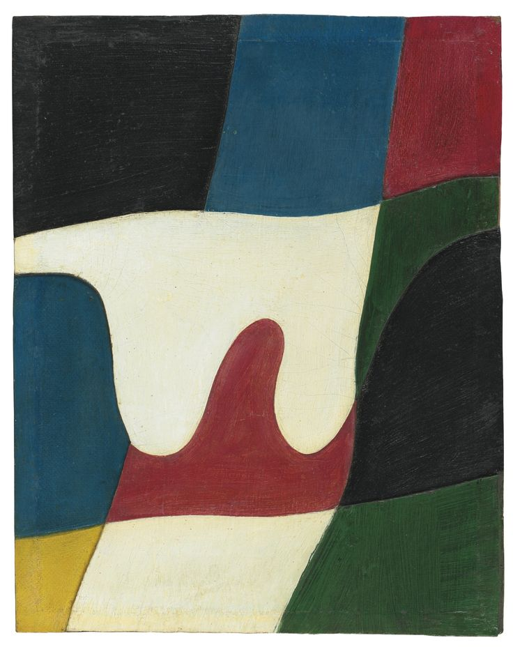 Jean Arp  1886 - 1966  SANS TITRE  Painted wood relief and oil on board  29.4 by 23.4cm.  11 5/8 by 9 1/4 in.  Executed in 1926.