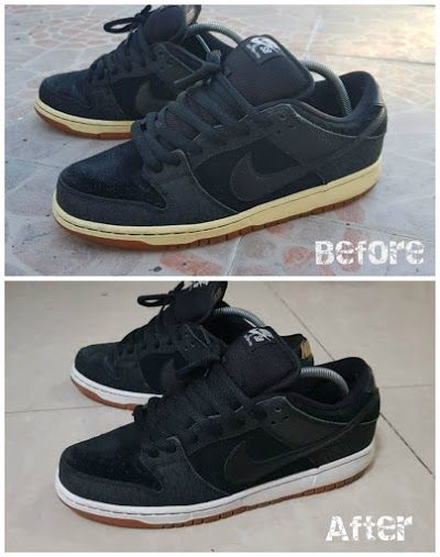 d5397951e8 Rewhitened Midsole Using Hortaleza s Developer Cream  12 Nike Sb