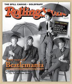 Umbrellas on magazine covers