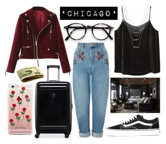 """•Chicago•"" by sunfayn on Polyvore featuring moda, Victorinox Swiss Army, Miss Selfridge, MANGO, Vans e ERTH"
