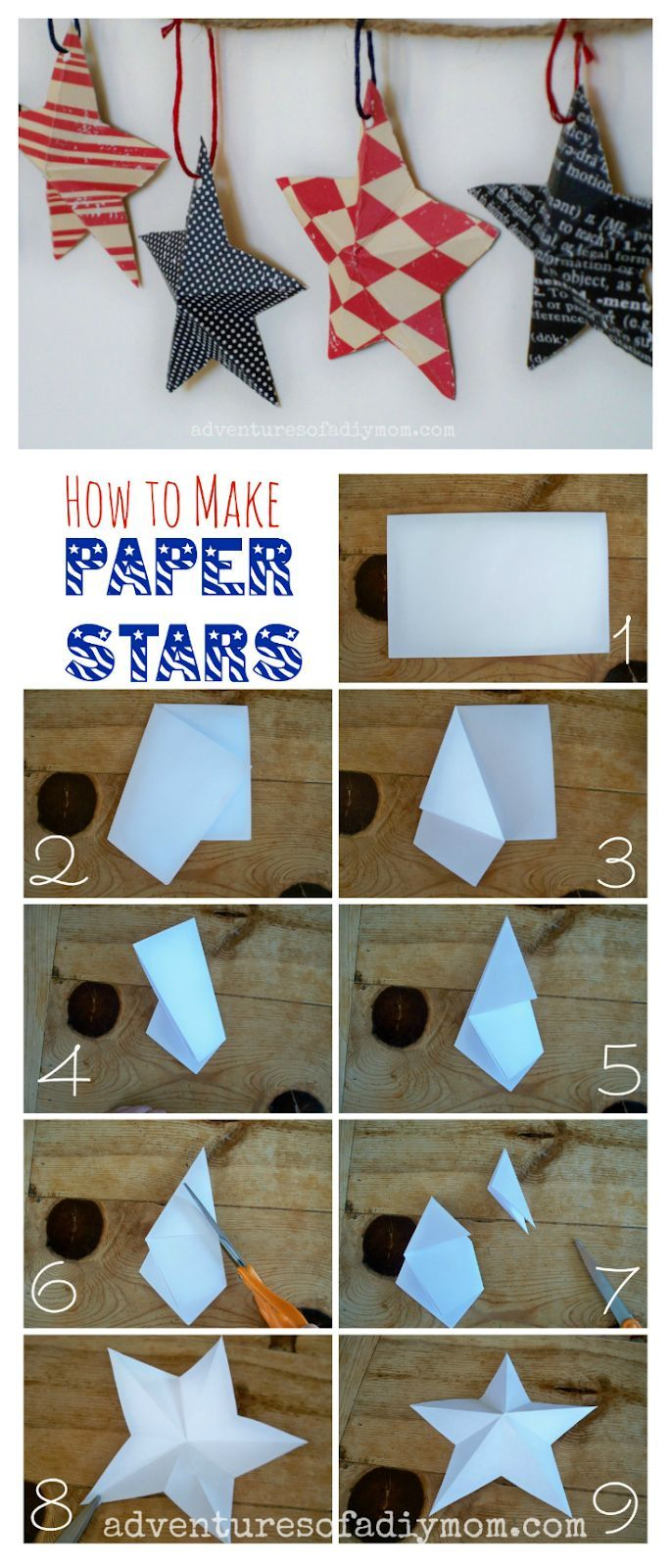 How to make Simple 3D Paper Stars - DIY Paper Crafts - YouTube | 1600x685