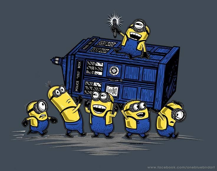 Minions!!!! I can just hear them laughing while stealing the tardis!