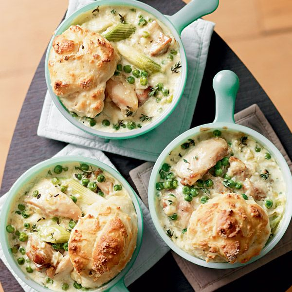 This comforting chicken cobbler recipe is inexpensive and takes just half an hour to cook. Turkey is an even cheaper alternative.