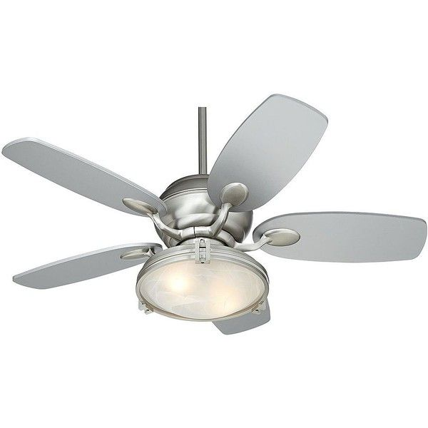 """Casa Vieja 43"""" Casa Optima Marbleized Light Brushed Steel Ceiling Fan ($340) ❤ liked on Polyvore featuring home, home decor, fans, ceiling fans, modern ceiling fans, modern home accessories, modern fan, modern home decor and casa vieja ceiling fans"""