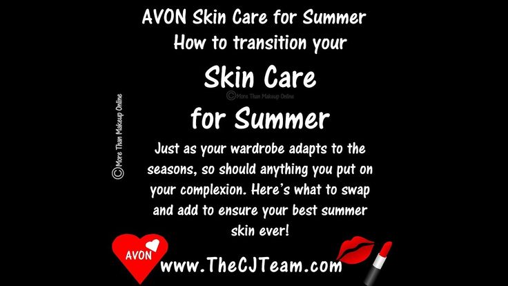 Avon Summer Skin Care.  Just as your wardrobe adapts to the seasons, so should anything you put on your complexion. Here's what to swap and add to ensure your best summer skin ever! We LOVE these top rated Fan Faves!  Shop the products consistently ranked highest by our most valued beauty expert - YOU! Reg. $4 & up. #BugGuard #SPF #Anew #Skinvincible #Platinum #AvonFaves #Avon4Me #FridayFavorites #Summer #SkinCare #CJTeam #FreeShipping #C16 Shop Avon Summer Skin Care on www.TheCJTeam.com