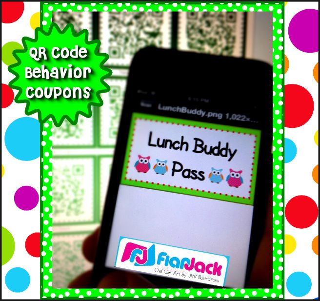 QR Code Behavior Coupon FREEBIE - students pick a random QR Code and discover what their prize is for positive behavior. Easy and fun!