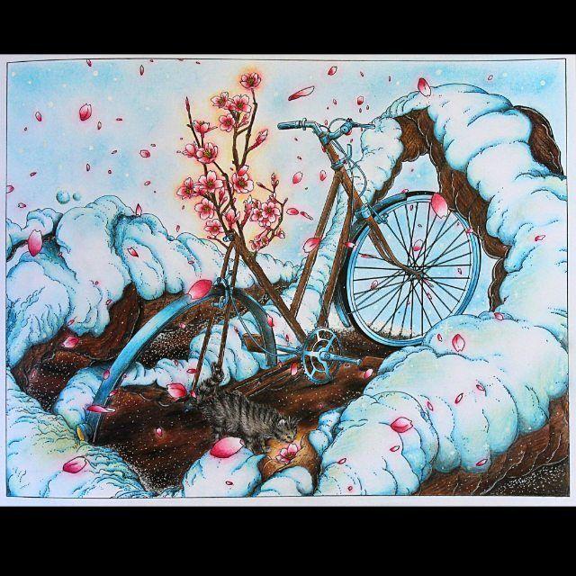 "Наконец начала новую раскраску ""Вокруг света на велосипеде"". Она просто великолепна! Спасибо #dayanajey за марафон #letscoloritmarathon Раскрашивала кошку с натуры :-) #coloring #coloringbook #раскраска #вокругсветанавелосипеде #миф #миф_раскраски #thebicyclecoloringbook"