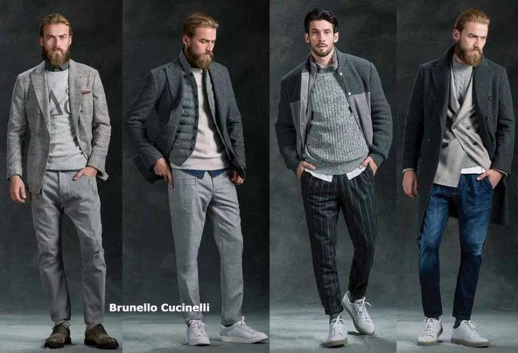 Стильная уличная молодежная мужская мода на осень-зиму 2017 - 2018 в пиджаках, джинсах, брюках, кроссовках, туфлях