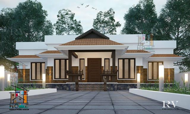 2 Bedrom Kerala Traditional Style Home Design Free Kerala Home Plans Architect Design House Kerala Traditional House Kerala House Design