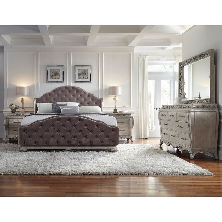 Anastasia 5-piece Queen-size Bedroom Set (Bedroom Set), Natural
