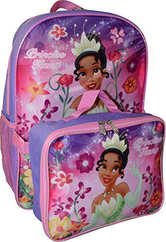 5972b27dbde Beautiful Princess Disney Girl s Princess Tiana 16 Backpack W Detachable  Lunch Box online.